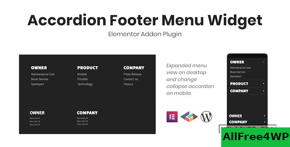 Download 🔝 Accordion Footer Menu Widget For Elementor v1.0.0