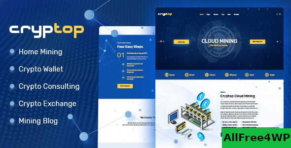 CrypTop v1.0.5 – ICO Landing and CryptoCurrency WordPress Theme