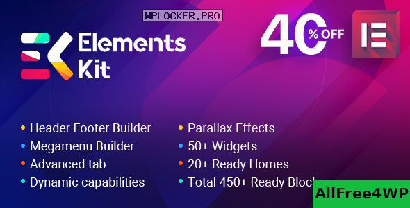 ElementsKit v2.1.4 – The Ultimate Addons for Elementor Page Builder