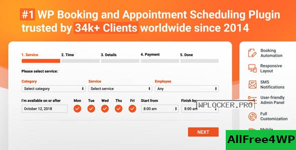 Bookly Booking Plugin v19.3 + Addons