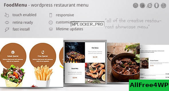 FoodMenu v1.16 – WP Creative Restaurant Menu