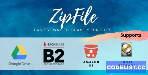 ZipFile v2.6 - File sharing made easy & profitable. Use Google Drive, S3 and Backblaze to host files.