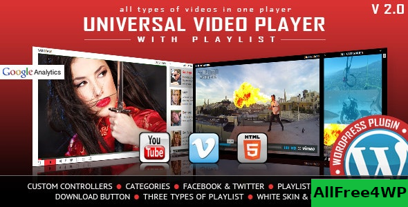 Universal Video Player v3.4 – WordPress Plugin