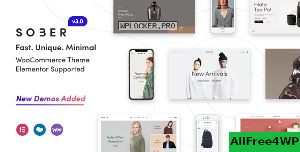 Sober v3.1.1 – WooCommerce WordPress Theme