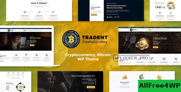 Tradent v2.2 – Bitcoin, Cryptocurrency Theme