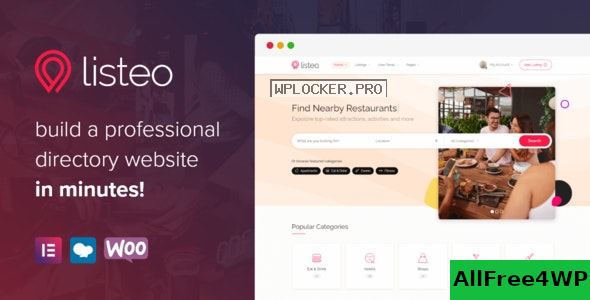 Download 🔝 Listeo v1.6.05 - Directory & Listings With Bookingnulled