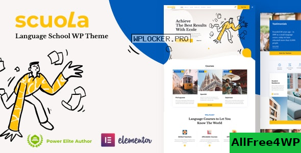 Scuola v4.0 – Language School WordPress Elementor nulled