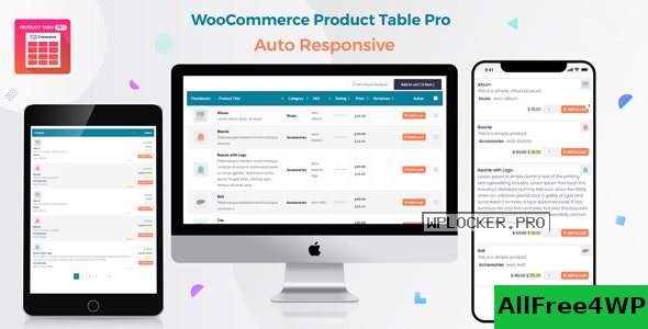 Woo Product Table Pro v7.0.5 – WooCommerce Product Table view solution