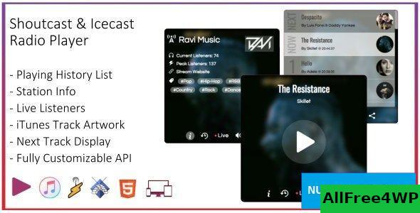 SHOUTcast and Icecast Radio Web Player v1.2