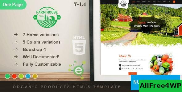 The Farm House v1.4 - One Page Organic Food, Fruit and Vegetables Products HTML5 Template