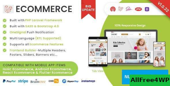 Laravel Ecommerce v1.0.22 - Universal Ecommerce/Store Full Website with Themes and Advanced CMS/Admin Panel
