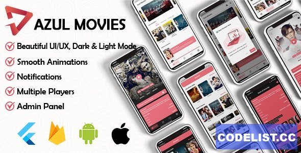 Movies App v1.0 - Admin panel ( movies & series & tv shows...) Flutter