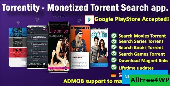Torrentity v1.0 - Torrent search app for streaming and download
