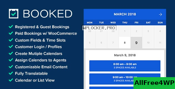 Download 🔝 Booked v2.3.5 - Appointment Booking for WordPress