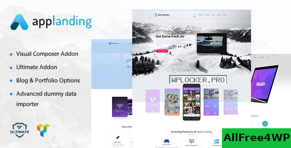 App Landing v1.8 – Landing Theme & Product Promotion WordPress Theme