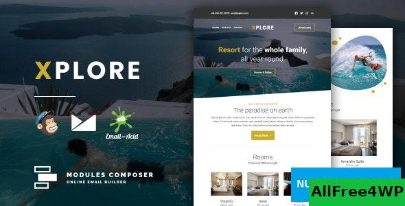 Xplore v1.0 – Responsive Email for Hotels, Booking & Traveling with Online Builder